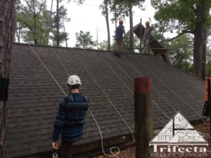 Ground accessible training roof at Reality Rope Access