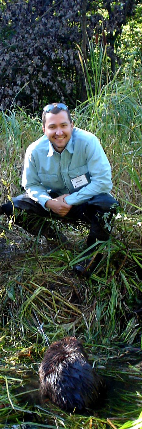 Chad with live captured beaver.