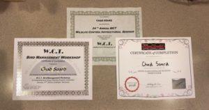 Chad Soard's 2018 WCT Certificates